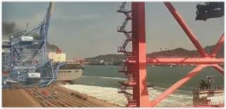Containership Milano Bridge Crashes with STS Crane at Busan Port (Video)
