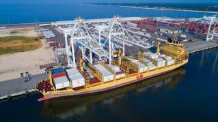 Port of Gulfport welcomes Dole's newest container vessels to Gulfport