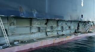 Container ship MSC Tina heavily damaged in allision at Port of Istanbul (Video)