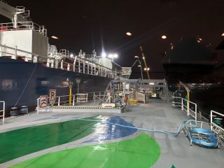 First LNG bunkering Ship to Ship in Ghent