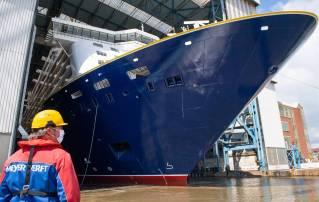 WATCH: Meyer Werft Floats Out Spirit of Adventure