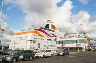 Tallink Grupp's vessel Baltic Queen arrives in Riga for the first time