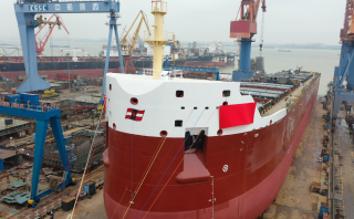 Watch: CSL's new self-unloader hits the water in China
