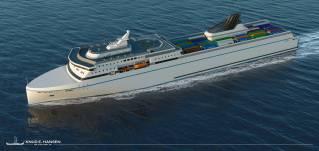 Knud E.Hansen Reveals Innovative 212-metre RoPax Ferry Design