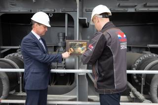 Keel-laying ceremony held for lead icebreaking LNG carrier ordered by SCF from Zvezda for Arctic LNG 2