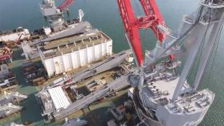 WATCH: Giant Pioneering Spirit vessel gets second lift system