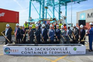 JAXPORT and SSA Marine break ground on $238.7 million container terminal