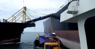 WATCH: Dredger struck tanker at full-speed in Malacca Strait