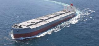 K-Line's new 200,000-dwt bulk carrier CAPE SAPPHIRE launched at Imabari Shipbuilding yard