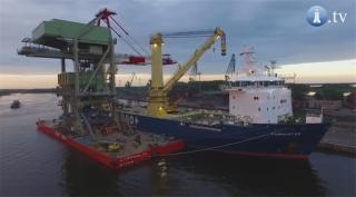 VIDEO: MV Jumbo Fairmaster loads Ship unloader in Szczecin, Poland
