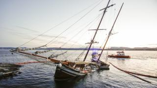 Historic Fishing Vessel Goes Aground and Sinks