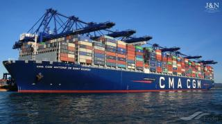 Inauguration of the CMA CGM ANTOINE DE SAINT EXUPERY by French Minister of Economy and Finance on Sept 06 in Le Havre