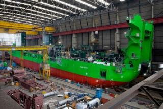 World's most powerful and green cutter suction dredger 'Spartacus' hits the water