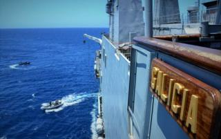 EU NAVFOR flagship ESPS Galicia maintains counter-piracy watch off coast of Somalia