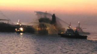 One crew member dies in oil tanker fire off Gujarat coast (Video)