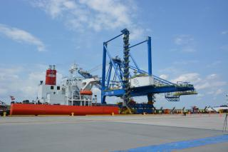 North Carolina Ports Welcomes Third Neo-Panamax Crane to Port of Wilmington