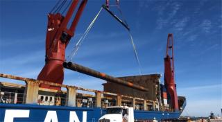 First Steel for Cruise Terminal 3 Waterside Construction Arrives at Port Canaveral