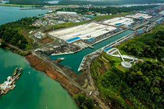 VIDEO: Aerial View of Panama Canal New Agua Clara Locks