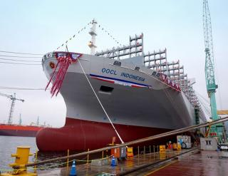 OOCL christens the last in latest series of 'G-Class' containerships - OOCL Indonesia