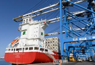 Malta Freeport hosts its first LNG-powered container ship
