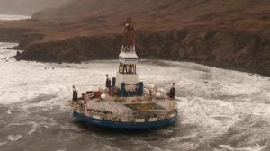 Alaska oil rig stranded in high seas
