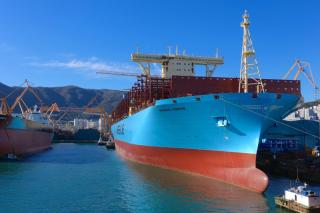Maersk Line takes delivery of 20,568 TEU boxship Madrid Maersk from DSME