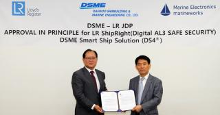 DSME Smart Ship Solution approved by LR