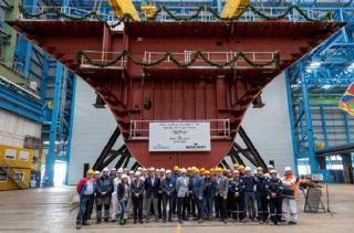 MEYER WERFT held keel laying ceremony for the new cruise ship IONA