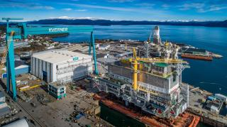 Johan Sverdrup living quarters topside ready for sail-away