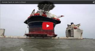Video: Arendal Spirit on route to Brazil