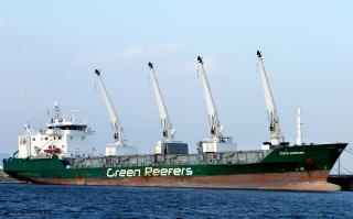 Freighter struck floating dock in Poland; Reported oil leak in the area