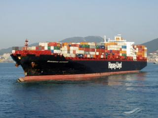 Fire-stricken Container ship Yantian Express en route to Freeport