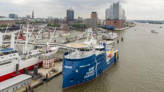 BS named the first wind farm service vessel for its customer SIEMENS in Hamburg