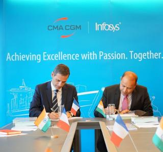 CMA CGM signs strategic partnership with Infosys to accelerate the transformation of its Information System