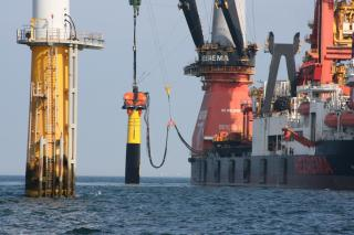 Heerema's Aegir installed DOT monopile at Eneco Amalia windpark