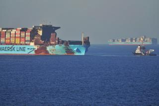 Maersk Honam reaches anchorage outside Jebel Ali Port