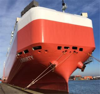 American Roll-on Roll-off Carrier Group adds vehicles carrier LIBERTY to the U.S.-flag fleet