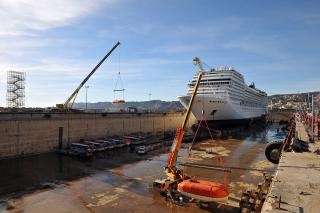 Forme 10 in Marseille - the biggest dry dock in the Mediterranean now fully operational