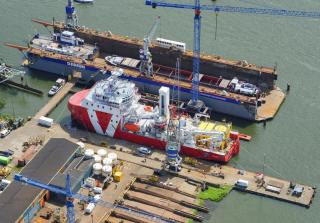 VOS Start W2W vessel departs Damen Shiprepair Oranjewerf following major upgrade