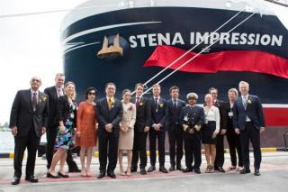 Stena Impression, first IMOIIMAX, christened in Singapore