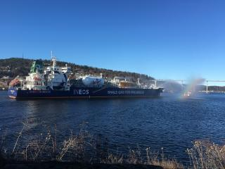 US shale gas arrives in Europe for the first time on board the INEOS Intrepid