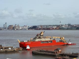 Cammel Laird Moves RRS Sir David Attenborough Out f Dock as BBC Announces Climate Change Documentary