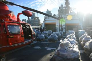 US Coast Guard offloads 36,000 lbs of cocaine seized from Eastern Pacific Ocean
