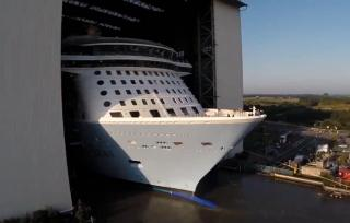 Newest Royal Caribbean ship to float out this week
