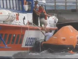 Sicilian passenger ferry sinks after smashing into pier (Video)