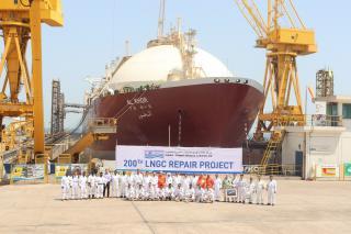 Nakilat' Erhama Bin Jaber Al-Jalahma Shipyard Achieves Significant Milestone - 200th LNG vessel repair
