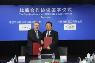 Cosco Shipping Heavy Industries and GTT have signed a strategic agreement on various LNG related projects