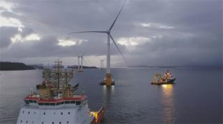 World's first floating wind farm has started production (Video)