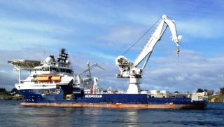 Subsea construction vessel Maersk Forza hired for helicopter recovery operation
