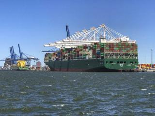 Largest container ship to ever visit Maryland arrived at Port of Baltimore